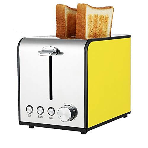 LJ-MBJ Automatique Acier Inoxydable Petit déjeuner Automatique, Ménage 2 tranches Grille Pain, Fente Large, Menu déroulant ramasse-miettes-Jau