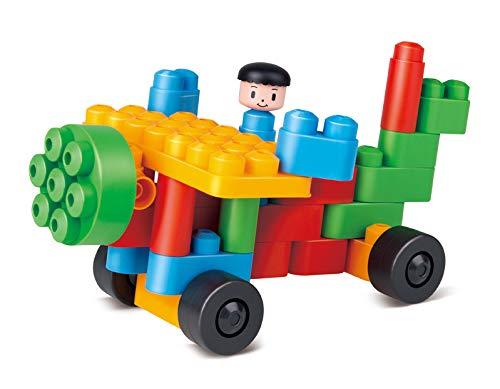 PolyM 760003creativos Figuras Niños Pequeños de Juguete, Flexible y rundkantige Ladrillos