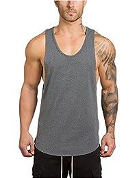 Tirantes de Fitness Vest Hombre Gym Muscle Sleeveless Camiseta Tank Top de Fiesta de Tank Tops Verano de Casual Tanks Tops PANPANY
