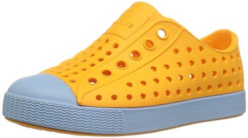 separation shoes bf472 21a0c Native Kids Jefferson Water Proof Shoes, Marigold OrangeSky Blue, 4 Medium  US