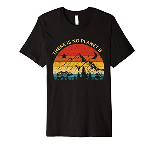 Vintage There is No Planet B T-Shirt gift for men women kids