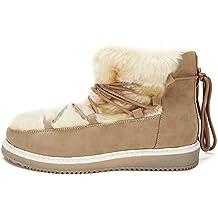 Zapatos Mujer Invierno Botines de Nieve - Botas Felpa Mujer, Zapatos de Cordones para Mujer