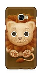 Amez designer printed 3d premium high quality back case cover for Samsung Galaxy C5 (cute lion brown animal)