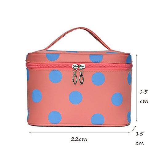 CLOTHES- Sacchetto di trucco della signora modo sveglia grande capienza di capacità di capacità impermeabile piegante imballaggio di immagazzinaggio sacchetti cosmetici sacchetto cosmetico ( Colore :  Rosa