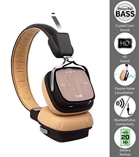 875f7b559db 42% OFF on BoAt Rockerz 600 Bluetooth Headphones (Brown) on Amazon |  PaisaWapas.com