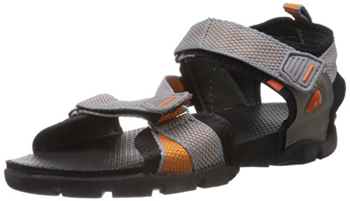 Sparx Men's Grey and Orange Athletic and Outdoor Sandals - 10 UK/India (44.67 EU) (SS-105)