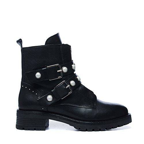 Sacha Damen Biker Boots Schwarz (Size: 40) Artikel 4.6238