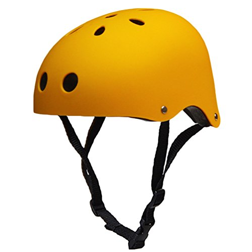 Kuncg Multi-Sport Skateboarding Skating & Radfahren Matte Oberfläche Technologie Poröse Belüftung Sicherheit Fahrradhelm Für Erwachsene M Helles Gelb