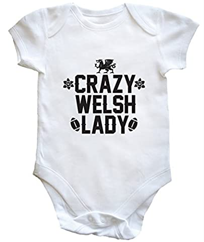 HippoWarehouse Crazy Welsh lady baby vest boys