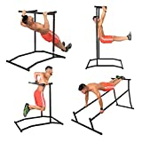 Summile 330LBS Pull Up Dip Station Power Tower Station Multi Station Power Tower