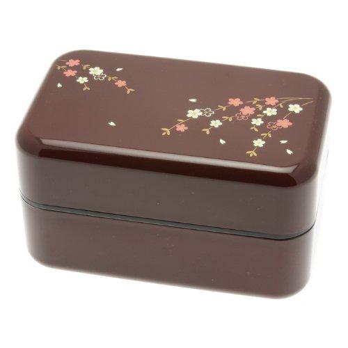 Kotobuki 2-Tier Sakura Petals Bento Box, Rosewood by Kotobuki (Kotobuki-bento)