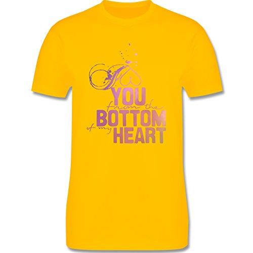 Statement Shirts - I love you from the bottom of my heart - Herren Premium T-Shirt Gelb