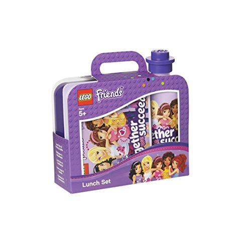 LEGO Friends Lunch-Set, Brotdose & Trinkflasche, lila