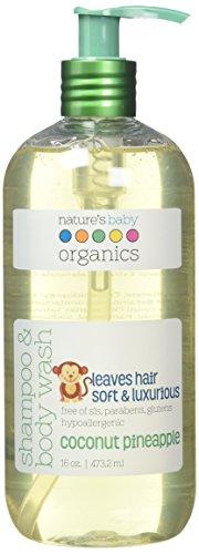 Nature 's Baby Organics Shampoo & Body Wash, Kokos Ananas, 16oz |babies, Kinder, Erwachsene. Feuchtigkeitsspendende, weich, sanfte, reichhaltige, hypoallergen | keine Parabene, SLS, glutens