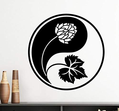 Pbldb Buddhismus Religion Buddhistische Figur Einfache Linie Zeichnung Muster Silhouette Wandaufkleber Kunst Aufkleber Wandbild Tapete Für Zimmer Aufkleber 50X50 Cm