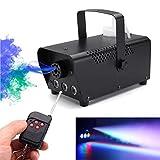 happygirr Nebelmaschine, 500 Watt Nebelmaschine mit LED-Leuchten Drahtlose Fernbedienung Rauchmaschine für Halloween-Hochzeitsfest-Disco Dj-Effekt