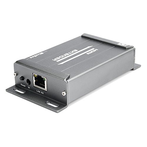 Mirabox HDMI Extender Mit Audio Extractor Über Rj45 Cat5 Cat5e Cat6 Über Ethernet Kabel TCP / IP Bis Zu 393ft Unterstützt Full HD 1080P, Schwarz (ARX891 RX) Digital-audio-cat5-extender