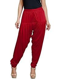 Goodtry Women's patiyala Free Size-dark red