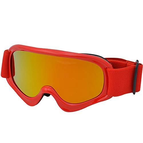 AH&Y Skibrille Anti-Fog Snowboardbrillen OTG Premium Doppelobjektiv Silber mit 180 ° Weit Ansicht UV400 Schutz Snow Goggles für Männer Frauen Jugendliche (4 Farben),Rot