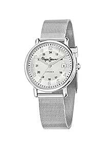 Pepe Jeans - R2351107002 - Marlon - Pendule Femme - Quartz Chronographe - Cadran Noir - Bracelet Cuir Noir