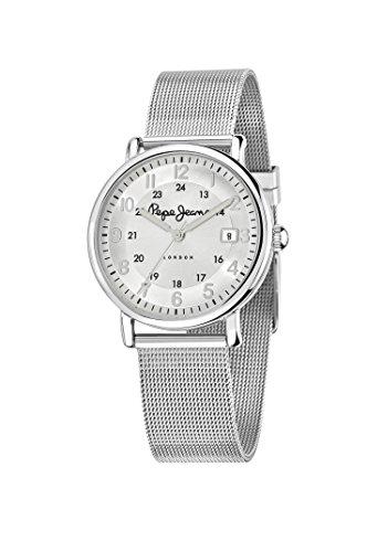 Pepe Jeans R2353105503 - Reloj con correa de caucho para mujer, color plateado / gris