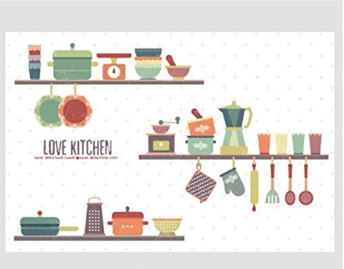 Küche Dekoration ölbeständige Aufkleber Herd wasserdicht und ölbeständig Dunstabzugshaube 3d 88 * 58cm