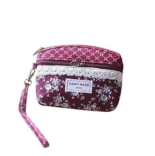 Jastore 4 Farben kleine Täschchen Tasche Geldbeutel Fashion Süß Elegant Damen Portemonnaie Geldbörse Mädchen (Rot 2)