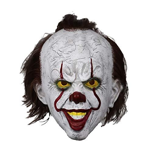 Für Clown Erwachsene Kostüm Scary - JAY-LONG Halloween Scary Clown Maske, Latex Masken Für Erwachsene Kostüm, Cosplay Kostüm Maske Party Gruselig Dekoration Requisiten