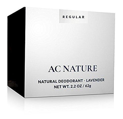 AC NATURE 100% Natural Lavender Deodorant Cream, Aluminum, Alcohol And Paraben Free, Scented With Organic Essential...