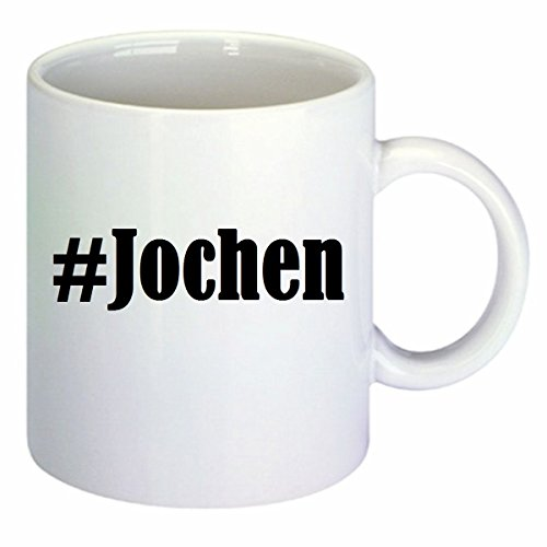 Kaffeetasse #Jochen Hashtag Raute Keramik Höhe 9,5cm ? 8cm in Weiß - 9.5 Jochen