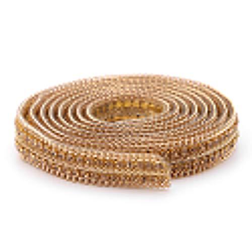 Bügelflicken zum Aufbügeln, Kette, Kleidung, Nähen, Goldfarben/Silberfarben gold (Perle Der Wal Kostüm)