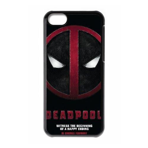 Deadpool coque iPhone 5C Housse téléphone Noir de couverture de cas coque EBDXJKNBO12204