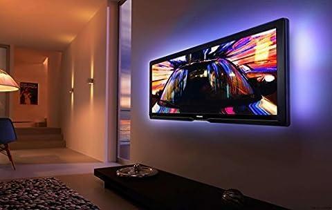 Kohree RGB Bias Beleuchtung TV Hintergrundbeleuchtung USB, TV Beleuchtung LED Streifen mit Fernbedienung, 2 Stück LED Lichtleiste Bunt für HDTV (lindern Ermüdung der Augen und erhöhen Bild Klarheit)