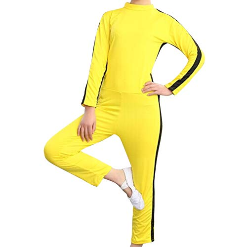 Yudesun Kampfsport Bekleidung Unisex Kinder Erwachsene Overall Kung Fu - Kostüm Outfit Rollenspiel Body Anzug Kampf Film Kleidung Strampler Training Retro ()