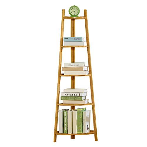 Storage Eckregal im Industrie-Design, Standregale, Bücherregal, Leiterregal, einfache Montage, Stabiles Metall für den Rahmen, 5 Ebenen für Zuhause, Wohnzimmer, Schlafzimmer, Balkon Sort out -