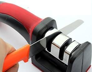 Vmoni 2 Slot Kitchen Knife Sharpener Tool (Random Colors)