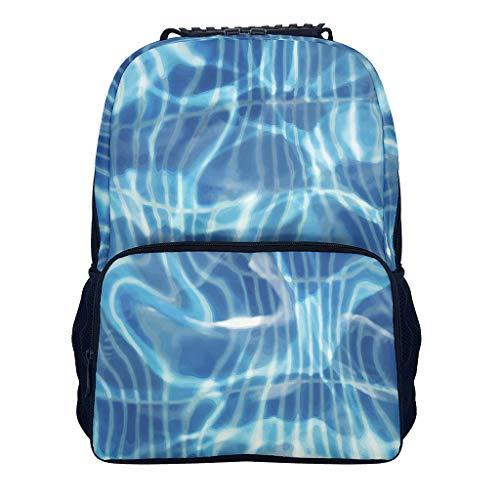 XunYun Rucksack für Schwimmbecken, Abstrakter bedruckter Kinderrucksack mit Seitentaschen, wasserabweisend, für Mädchen, Schule, Kinder One Size weiß