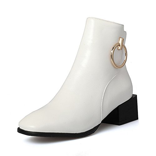 An Andku01752 - Sandales Compensées Femme Blanches