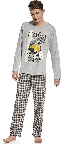 Cornette Jungen Pyjama CR-553-Young (Melange/Graphit(21), 170/S)