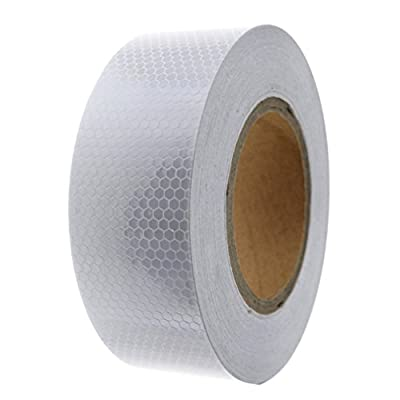 Reflektorband Silber 5cmx25m Reflektorfolie Warnung Selbstklebend Warnaufkleber