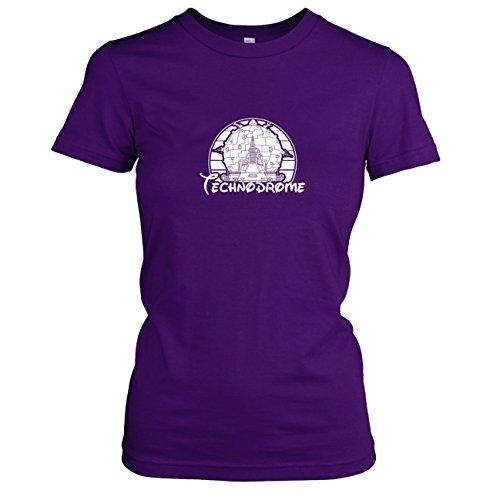TEXLAB - Turtles Technodrome - Damen T-Shirt, Größe XL, violett