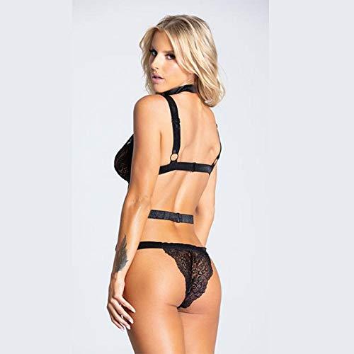 WZXYY Erotische Dessous Set Baby Dolls & Negligees Für Damen Sexy Lingerie Straps Neck Lace Sexy Overall - 3