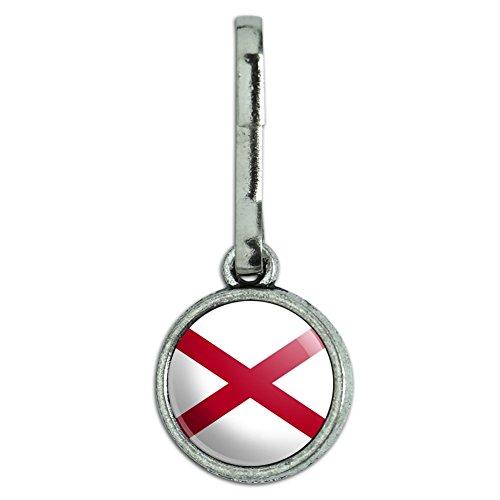 Antik Charm Kleidung Geldbörse Gepäck Rucksack Zipper Pull State Flagge Alabama State Flag (Flag Alabama)