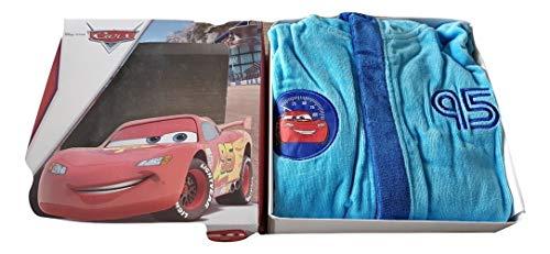 Deliciosa Albornoz Infantil Cars 95 con Capucha en Caja Material Esponja algodón Tallas 4/5-6/7-8/9...