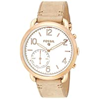 Fossil Hybrid Smartwatch Q Tailor Light Brown Leather - FTW1129