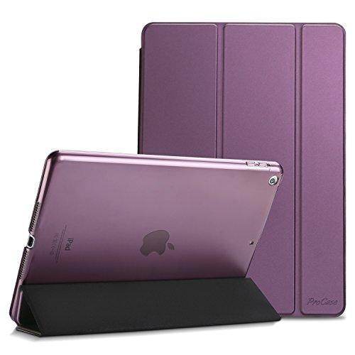ProCase iPad 9.7 Hülle 2018 iPad 6 Generation /2017 iPad 5 Generation Tasche - Äußerst Schlank Leichtgewicht Ständer mit Transluzent Matt Rückseite Intelligente Hülle für Apple iPad 9.7 Zoll –Lila