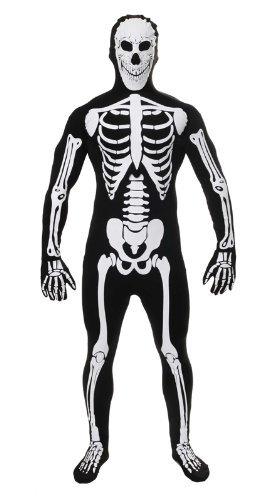 Halloween Kostüm Herren Overall Leuchtet im Dunkeln (Skelett Kostüm Für Herren)