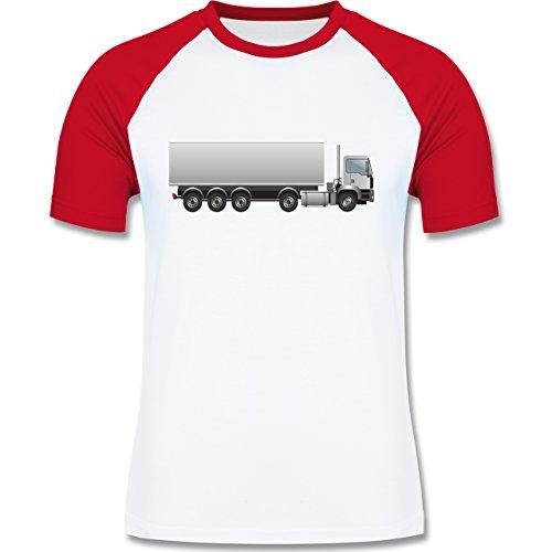 Andere Fahrzeuge - Sattelzug Sattel 40 Tonner - zweifarbiges Baseballshirt für Männer Weiß/Rot