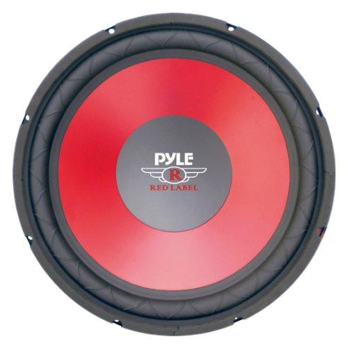 Pyle PLW15RD 38,1cm Membran Hohe Leistung Tieftöner-Rot 1000w Dvc Subwoofer