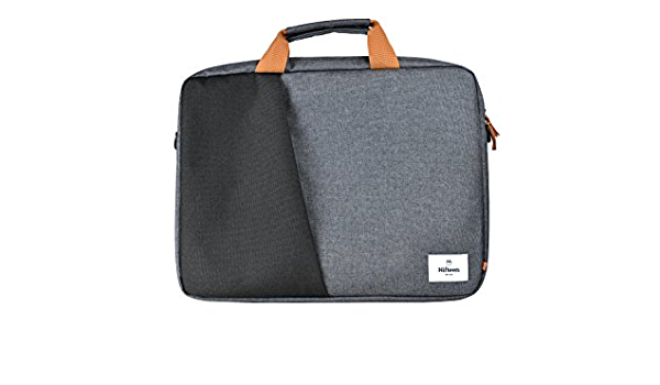 Nifteen 15.6-Inch Manhattan Portable Travel Laptop Sleeve Carrier Bag with Handles and Detachable Shoulder Strap Black